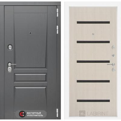 Стальная дверь Лабиринт Платинум 01 (Беленый дуб)