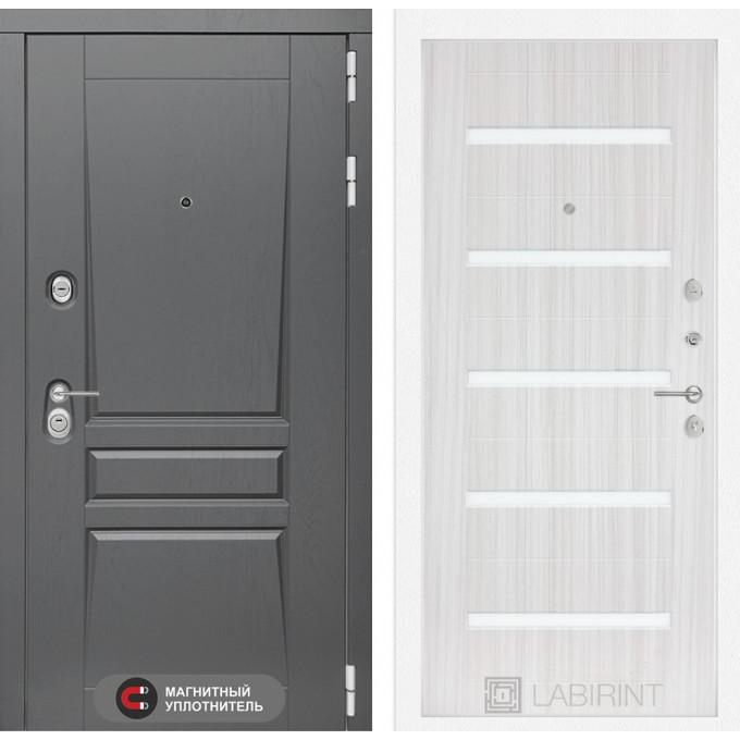 Стальная дверь Лабиринт Платинум 01 (Сандал белый)