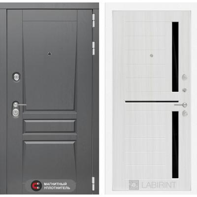 Стальная дверь Лабиринт Платинум 02 (Сандал белый)
