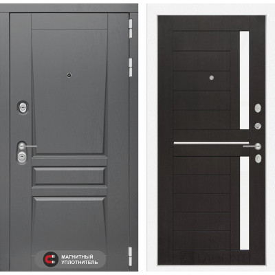 Стальная дверь Лабиринт Платинум 02 (Венге)