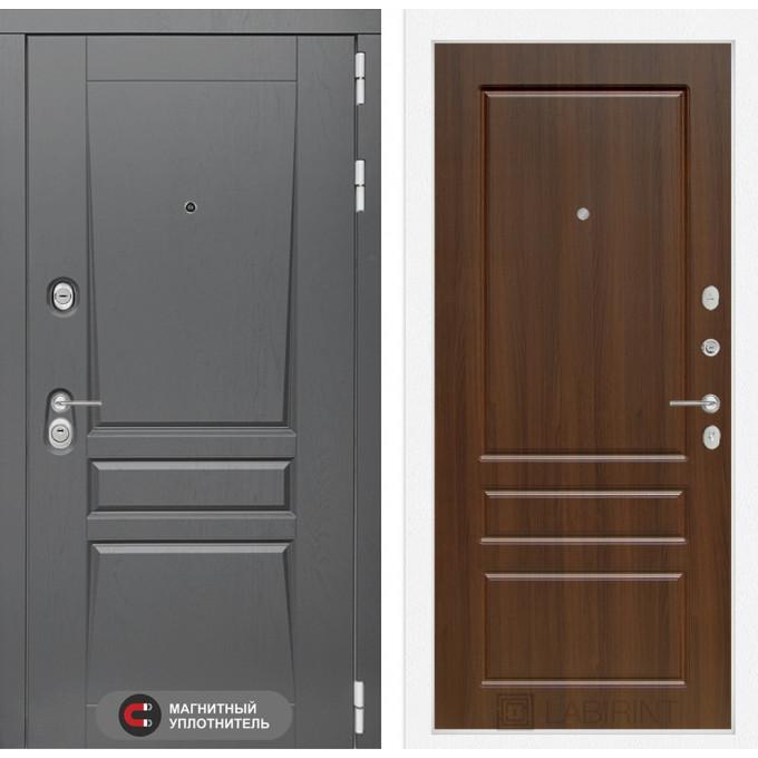 Стальная дверь Лабиринт Платинум 03 (Орех бренди)