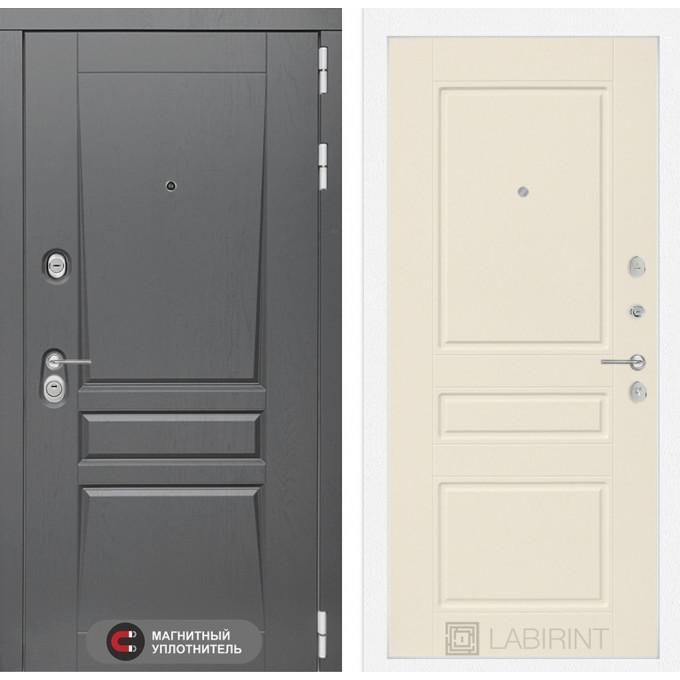 Стальная дверь Лабиринт Платинум 03 (Крем софт)