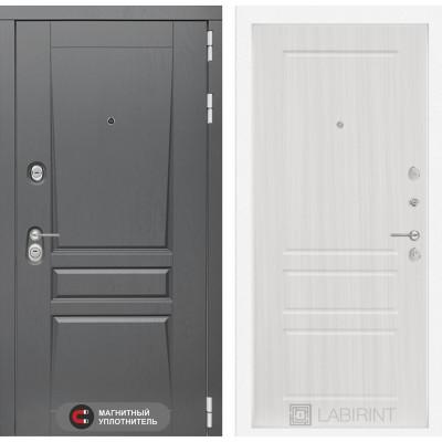 Стальная дверь Лабиринт Платинум 03 (Сандал белый)