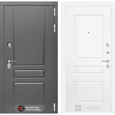Стальная дверь Лабиринт Платинум 03 (Белый софт)