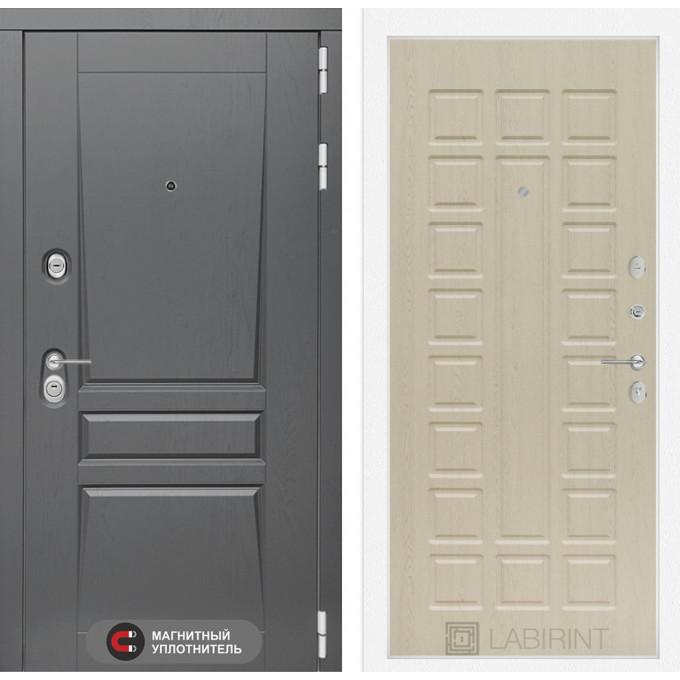 Стальная дверь Лабиринт Платинум 04 (Беленый дуб)