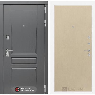 Стальная дверь Лабиринт Платинум 05 (Беленый дуб)