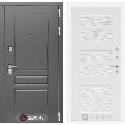 Стальная дверь Лабиринт Платинум 06 (Белое дерево)