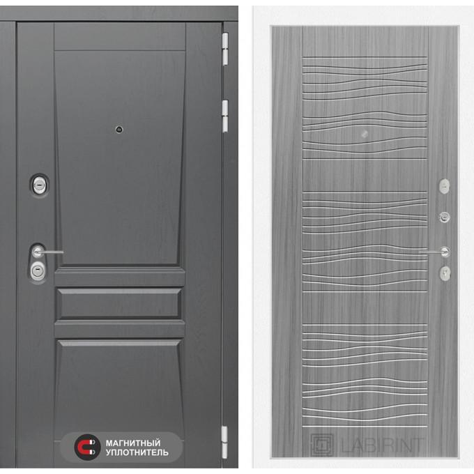 Стальная дверь Лабиринт Платинум 06 (Сандал серый)