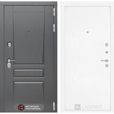 Стальная дверь Лабиринт Платинум 07 (Белое дерево)