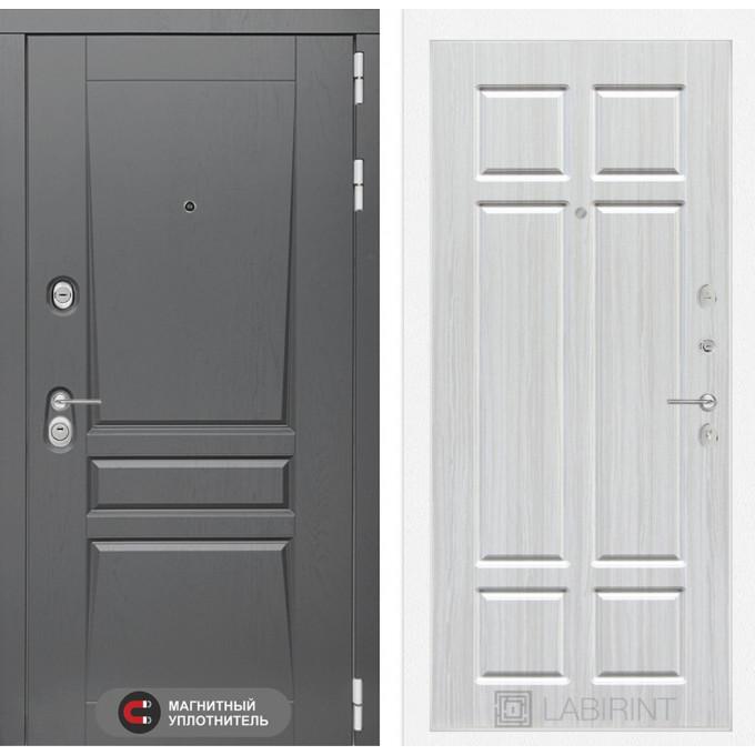 Стальная дверь Лабиринт Платинум 08 (Кристалл вуд)