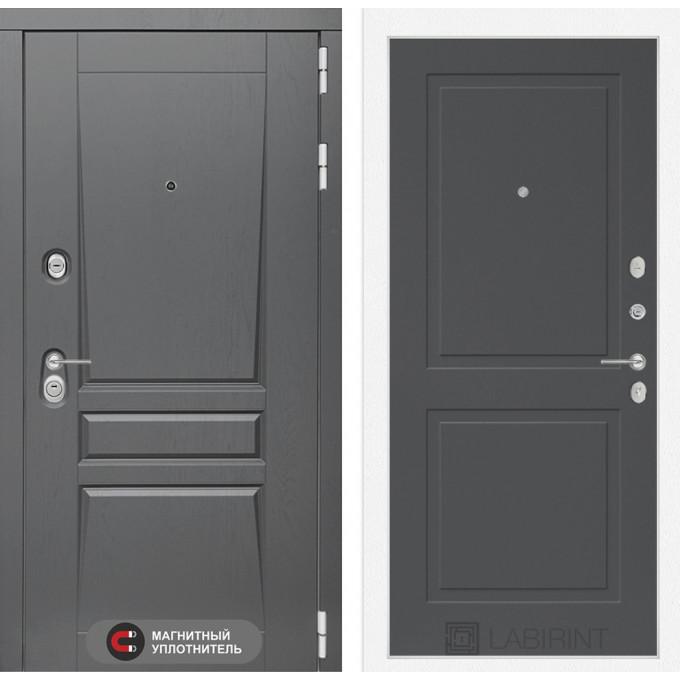 Стальная дверь Лабиринт Платинум 11 (Графит софт)