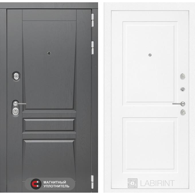 Стальная дверь Лабиринт Платинум 11 (Белый софт)