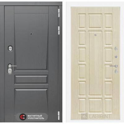 Стальная дверь Лабиринт Платинум 12 (Беленый дуб)