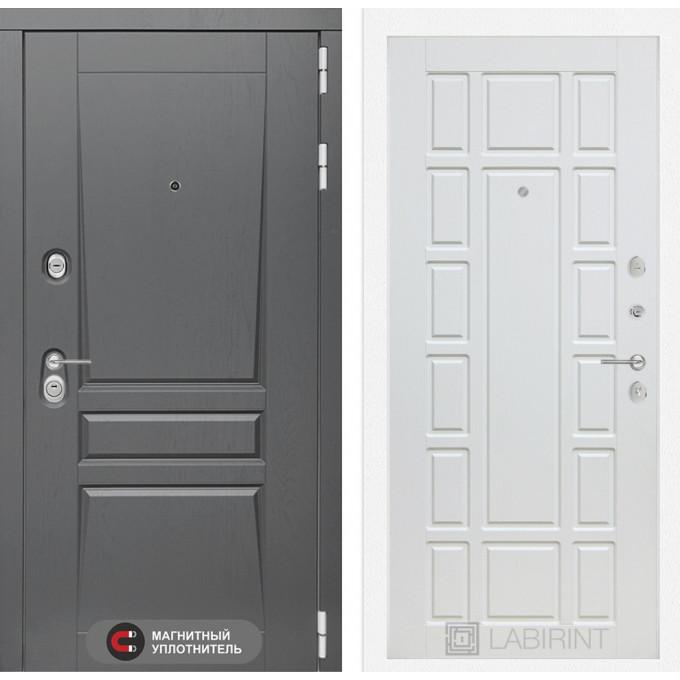Стальная дверь Лабиринт Платинум 12 (Белое дерево)