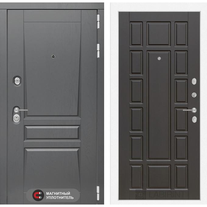 Стальная дверь Лабиринт Платинум 12 (Венге)