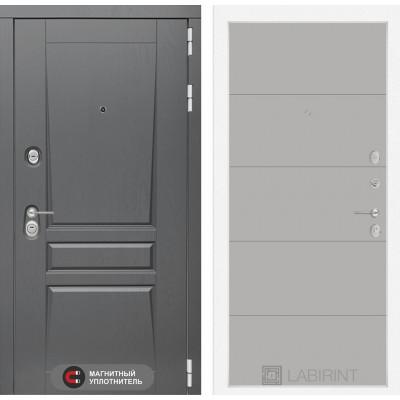 Стальная дверь Лабиринт Платинум 13 (Грей софт)