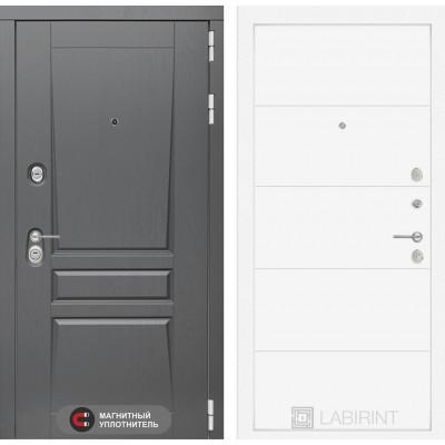 Стальная дверь Лабиринт Платинум 13 (Белый софт)