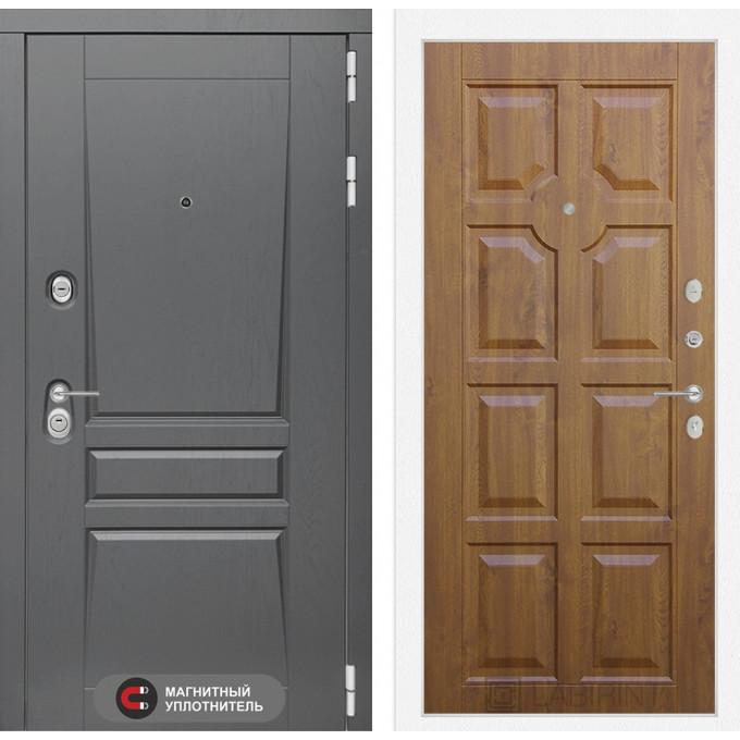 Стальная дверь Лабиринт Платинум 17 (Золотой дуб)