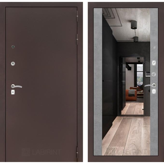 Дверь Лабиринт Classic Максимум (Медный антик / Бетон светлый)