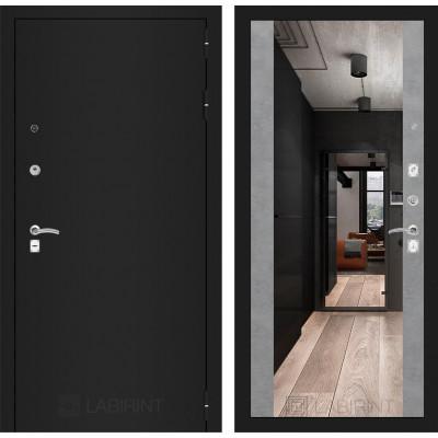 Дверь Лабиринт Classic Максимум (Шагрень черная / Бетон светлый)