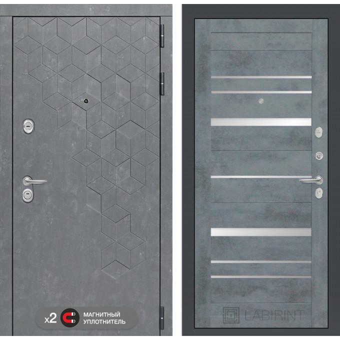Стальная дверь Лабиринт Бетон 20 (Бетон темный)