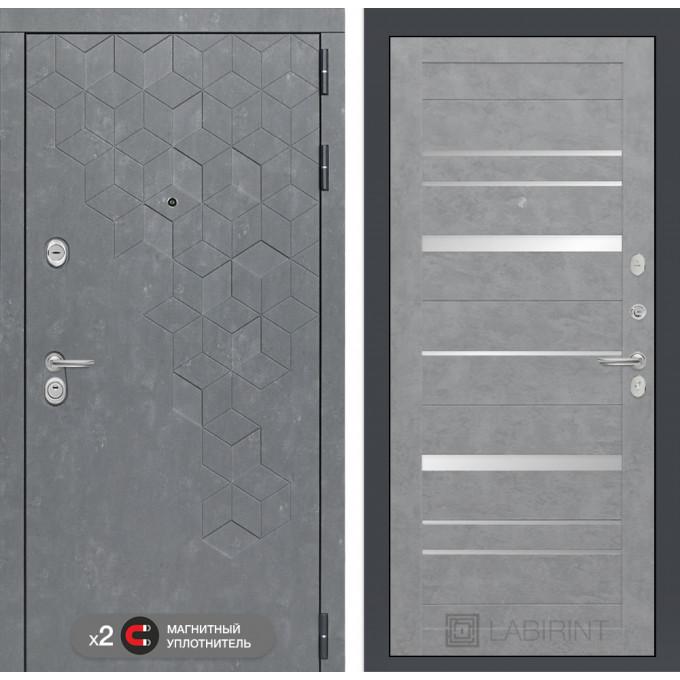 Стальная дверь Лабиринт Бетон 20 (Бетон светлый)