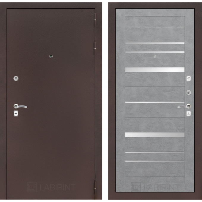 Дверь Лабиринт Classic 20 (Антик медный / Бетон светлое)