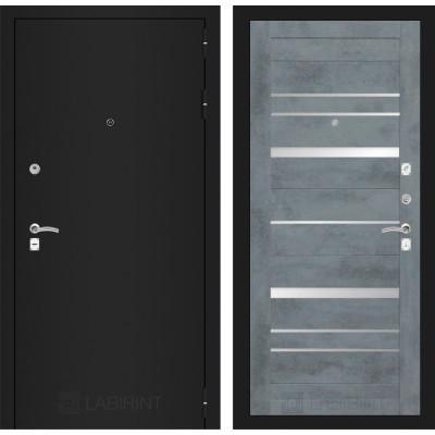 Дверь Лабиринт Classic 20 (Шагрень черная / Бетон темный)