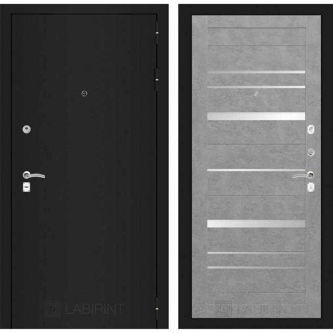 Дверь Лабиринт Classic 20 (Шагрень черная / Бетон светлый)