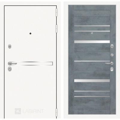 Стальная дверь Лабиринт LINE WHITE 20 (Бетон темный)