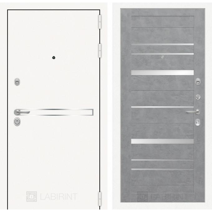 Стальная дверь Лабиринт LINE WHITE 20 (Бетон светлый)