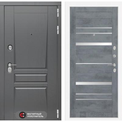 Стальная дверь Лабиринт Платинум 20 (Бетон темный)