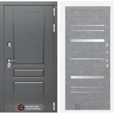 Стальная дверь Лабиринт Платинум 20 (Бетон светлый)