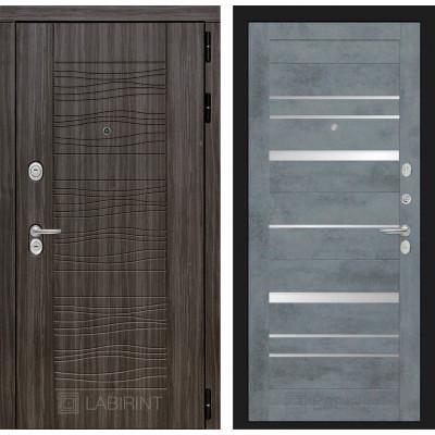 Стальная дверь Лабиринт SCANDI 20 (Бетон темный)