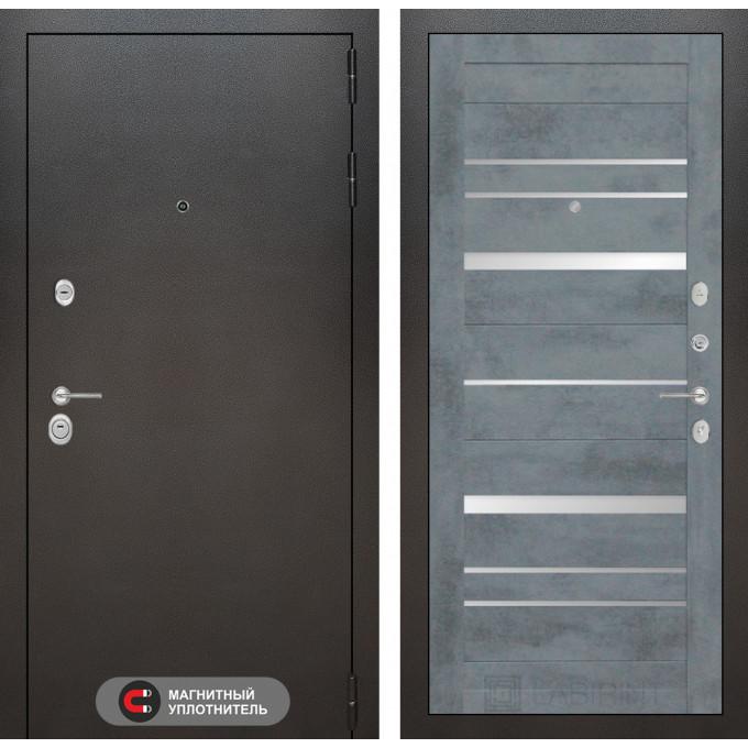 Стальная дверь Лабиринт SILVER 20 (Бетон темный)