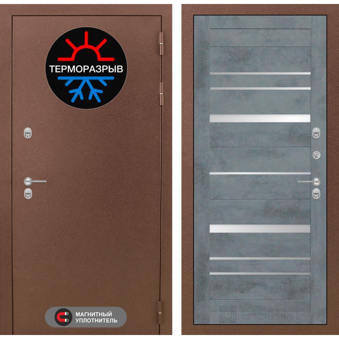 Стальная дверь Лабиринт Термо Магнит 20 (Бетон темный)