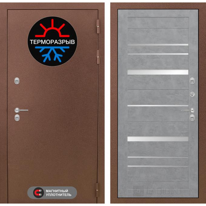 Стальная дверь Лабиринт Термо Магнит 20 (Бетон светлый)