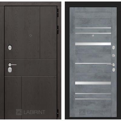 Стальная дверь Лабиринт URBAN 20 (Бетон темный)
