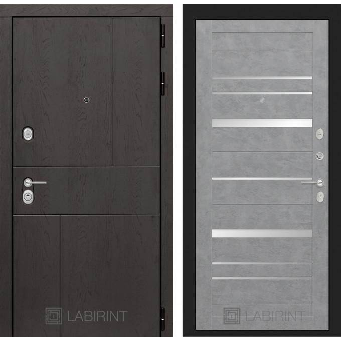 Стальная дверь Лабиринт URBAN 20 (Бетон светлый)