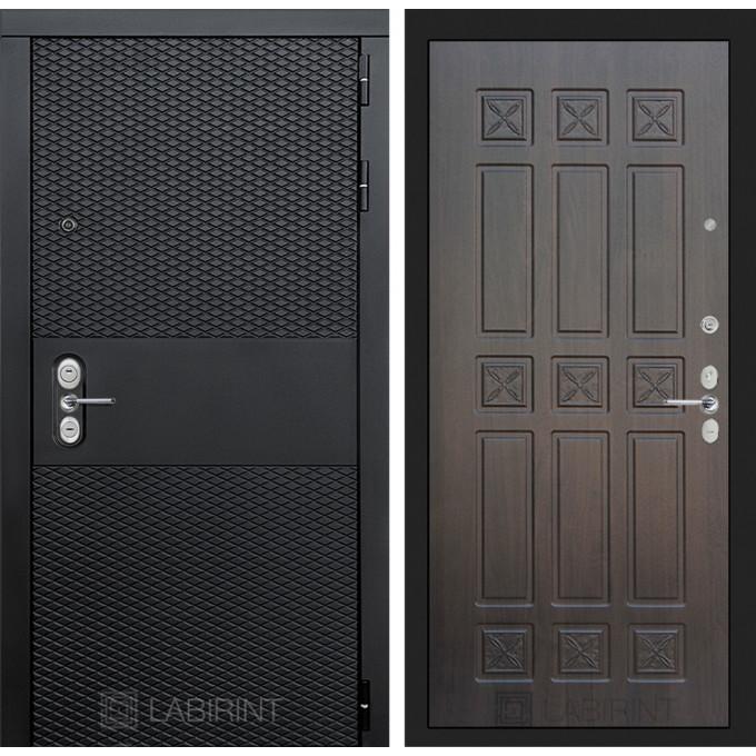 Стальная дверь Лабиринт BLACK 16 (Алмон 28)