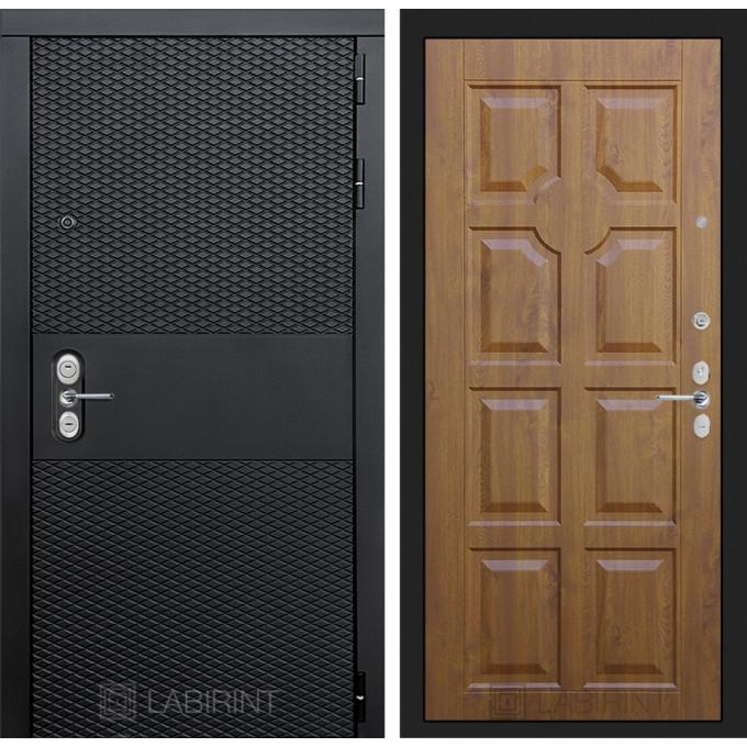 Стальная дверь Лабиринт BLACK 17 (Золотой дуб)