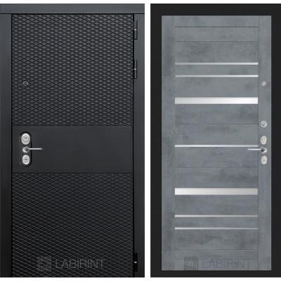 Стальная дверь Лабиринт BLACK 20 (Бетон темный)