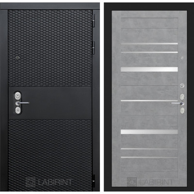 Стальная дверь Лабиринт BLACK 20 (Бетон светлый)