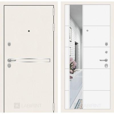 Распродажа Лабиринт LINE WHITE (880 правая) 19 с зеркалом (Белый софт)