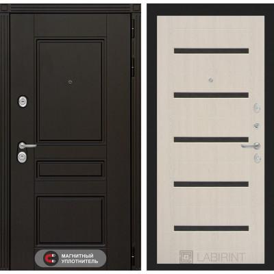 Стальная дверь Лабиринт Мегаполис 01 (Беленый дуб)