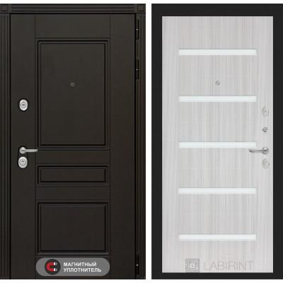 Стальная дверь Лабиринт Мегаполис 01 (Сандал белый)