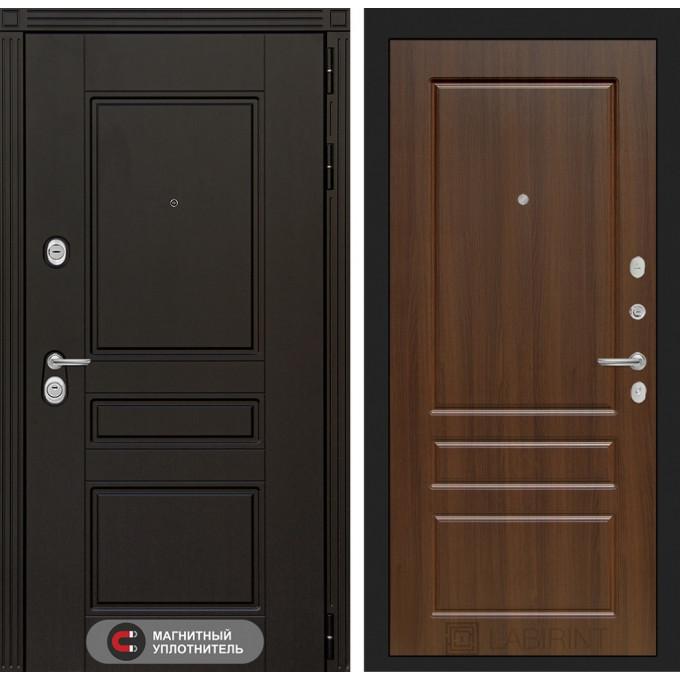 Стальная дверь Лабиринт Мегаполис 03 (Орех бренди)