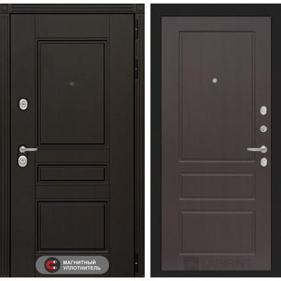 Стальная дверь Лабиринт Мегаполис 03 (Орех премиум)