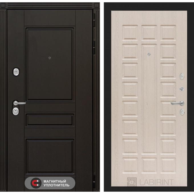 Стальная дверь Лабиринт Мегаполис 04 (Беленый дуб)