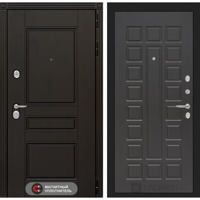 Стальная дверь Лабиринт Мегаполис 04 (Венге)